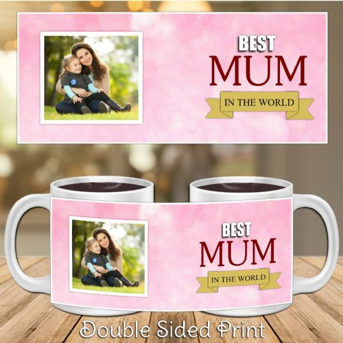 Personalised Best Mum Happy Mothers Day Gift PHOTO Mug N32